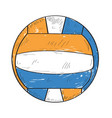 retro volleyball ball vector image vector image