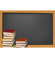school books and blackboard vector image vector image