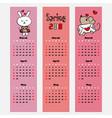 season calendar spring color bookmark vector image vector image