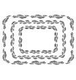 set black silhouettes rectangular laurel vector image vector image