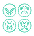 set line butterfly logos and icons vector image vector image
