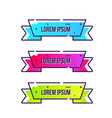 set of banners color discount background vector image vector image