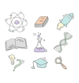 Set of Hand Drawn Science icons vector image vector image