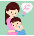 Son Hugging His Mother vector image
