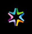 star colorful technology logo vector image
