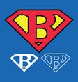 superhero logo icon with letter b ou