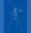 telescope concept outline vector image