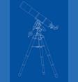 telescope concept outline vector image