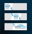 template of white web banners of a standard size vector image vector image