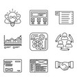 thin lines icons set of development process vector image