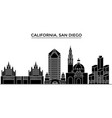 usa california san diego architecture city vector image vector image