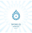 water drop with human hand logo design vector image