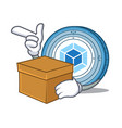 with box webpack coin character cartoon vector image vector image