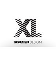 xl x l lines letter design with creative elegant vector image vector image