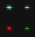 xmas colored stars collection vector image