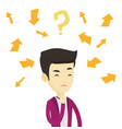young business man thinking vector image vector image