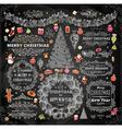 Chalkboard Christmas Set vector image