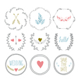Set of hand drawn frames with wedding decorative vector image