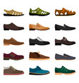 men shoes collection vector image