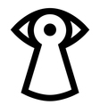Spy sign vector image