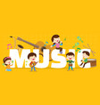 play music concept vector image