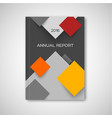 abstract square cover templare - material design vector image