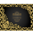 Antique background luxury vintage frame vector image vector image