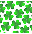 Background of clover on a white background for the