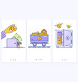 bitcoin wallet logo with bank card trolley with vector image vector image