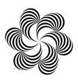 black and white abstract striped vector image vector image