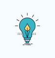 bulb idea electricity energy light flat icon vector image