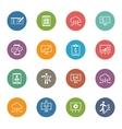 Business Money Icons Set Flat Design vector image