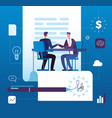 business partnership businessmen investors vector image