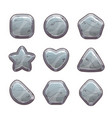 cartoon grey stone assets vector image vector image