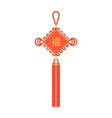 chinese knot with tassel and chinese character vector image vector image