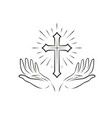 christian logo religious community symbol icon vector image vector image