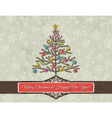 christmas background with snowflakes and christmas vector image vector image