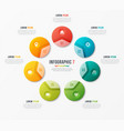 circle chart template with 7 options vector image vector image