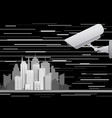 city video surveillance system abstract concept vector image vector image