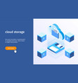 cloud storage banner 05 vector image