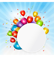 Colorful holiday background with balloons vector image vector image
