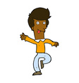 comic cartoon man dancing vector image vector image