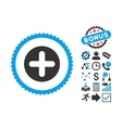 Create Flat Icon with Bonus vector image