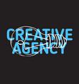 creative agency design with an artistic cartoon vector image vector image