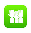 different people hands raised up icon digital vector image