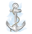 drawing color anchor vector image vector image