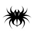 fierce tarantula black and white logo vector image vector image