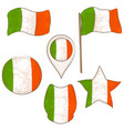 flag of the ireland performed in defferent shapes vector image vector image