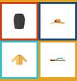 flat icon dress set of stylish apparel elegant vector image vector image