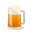 fresh beer in glass tankard isolated icon vector image vector image